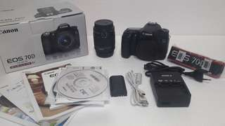 CAMERA CANON 70D WIFI & LENSA 18-55mm IS STM