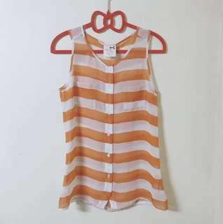 Tommy Girl Orange Striped Top