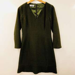 斯文裙 Moshcino dark green dress size F36