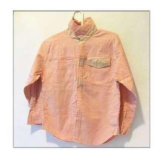 襯衫 長袖 男童 女童 兒童 小孩 可當 秋天外套 尺寸:130cm  好搭配
