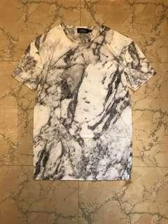 Topman marble print tee