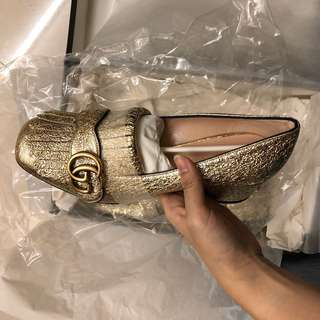 Gucci Marmont Leather Loafers