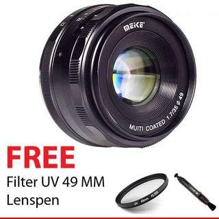 Lensa meike 35mm f1.7 fujifilm