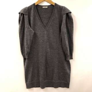 Miu Miu gray knitted sweater size 40
