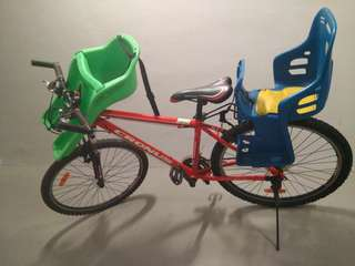 Two baby seats Bicycle mountain bike