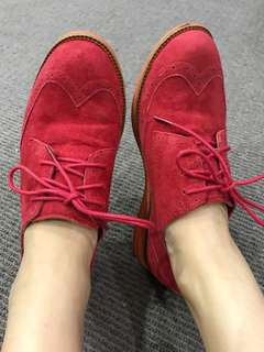 Florsheim leather sneaker - red color