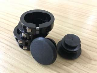 Handle grip lock rings