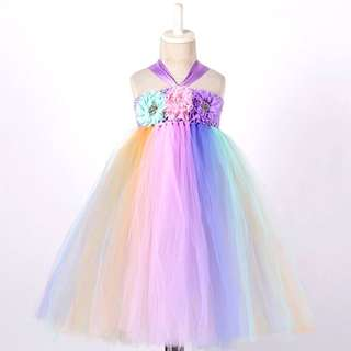 Pastel Colored Tutu Dress for Girls