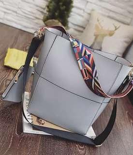 Grey Sling Bag Shoulder Hand bag