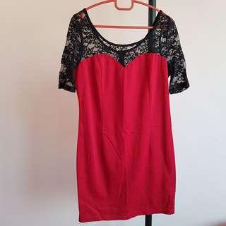 #20under Kitschen Red Lace Dress