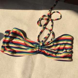 Rainbow color bikini top