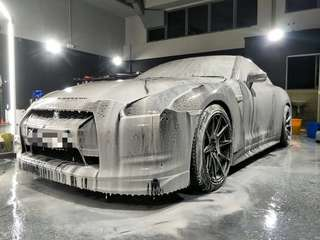 Nissan GTR Hydropboic car spa!