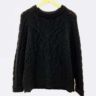 Alexander Mcqueen black knit sweater size M