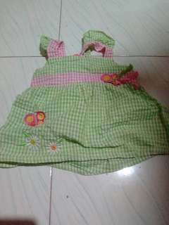 Used baby top and dress for 1 year old
