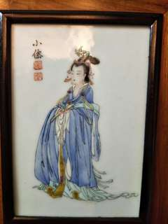 Chinese Painting ceramics with frame