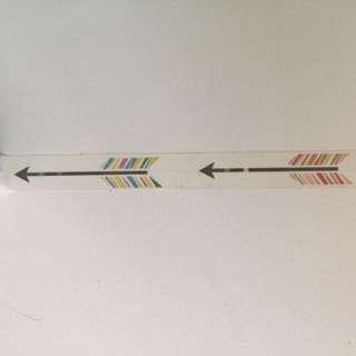 Big Arrows Washi Tape 15mm x 10m #GJ8