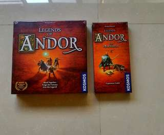 Legends Of Andor + Star Shield Brand New Board Game