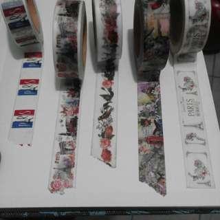 Washi Tape and Designer Paper (Vintage designed)