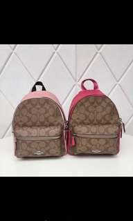 Original coach women mini charlie backpack handbag