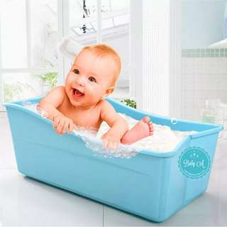 Foldable portable baby bath tub