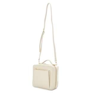 LH-B1732 Legato Largo Cube type shoulder bag - White