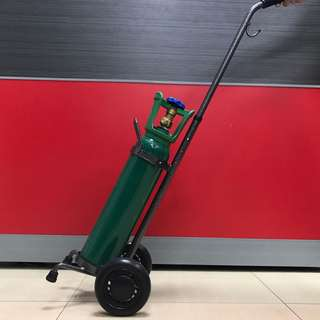 5 pounds Oxygen tank with trolley and regulator
