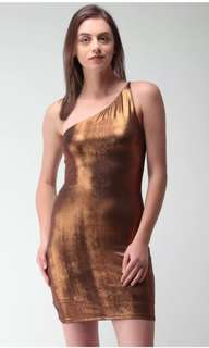 Bronze toned party dress