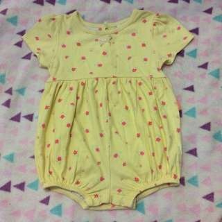 Carter's Yellow Floral Romper