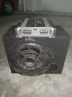BM Subwoofer & Caliber Amplifier