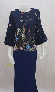 Set Blouse Bunga