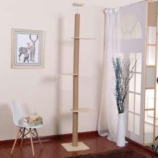 <Fast deal>Pine wood cat pole / cat tower / cat tree / cat ceiling climb