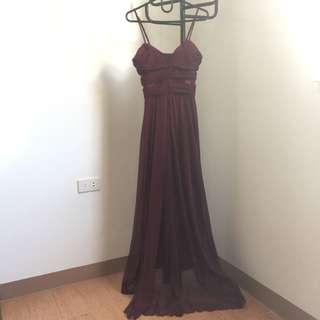 Burgundy red sexy dress