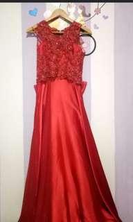 Dress merah custom
