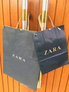 Paperbag Zara, Levis ,Sogo