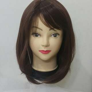 Side Parted Brown Wig