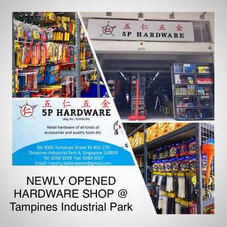 Newly opened hardware shop in Tampines industrial park!