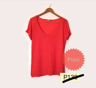 F21 Red Blouse