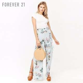 FOREVER21 blue floral pants