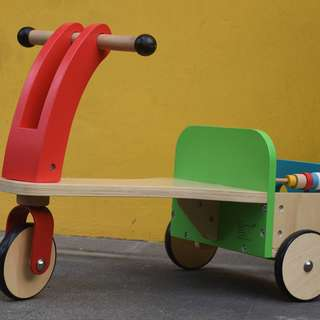 Wonderful wooden bikes for kids at attractive rent