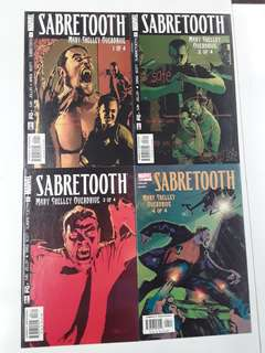 Sabretooth Mary Shelley Overdrive (2002) Comics Set