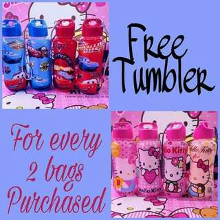 Buy 2 bags free tumbler 16 inches