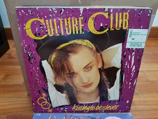 Culture Club Kissing To Be Clever Vinyl LP Original Pressing Rare