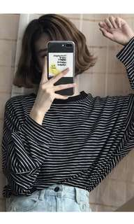 Ulzzang Black striped sweater