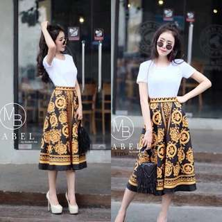 Set white top and d&g skirt : shop to