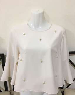 Pearl white bell top