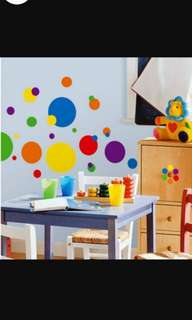 Colorful circle wall stickers living room bedroom office background wall decorations room creative wall stickers Home decor ( Raw sticker 70x50cm )