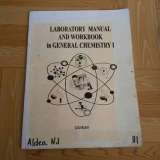 [FREE!] Laboratory Manual and Workbook in General Chemistry 1
