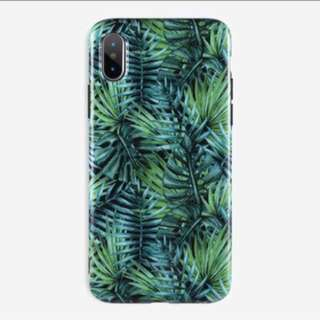 Tropical leaves glossy imd case iPhone 5 5s se 6 6s plus 7 8