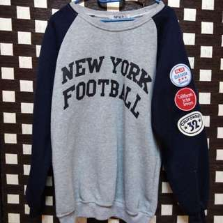 Grey + Dark Blue New York Sweatshirt
