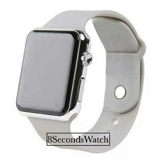 Jam tangan LED Apple grey Unisex